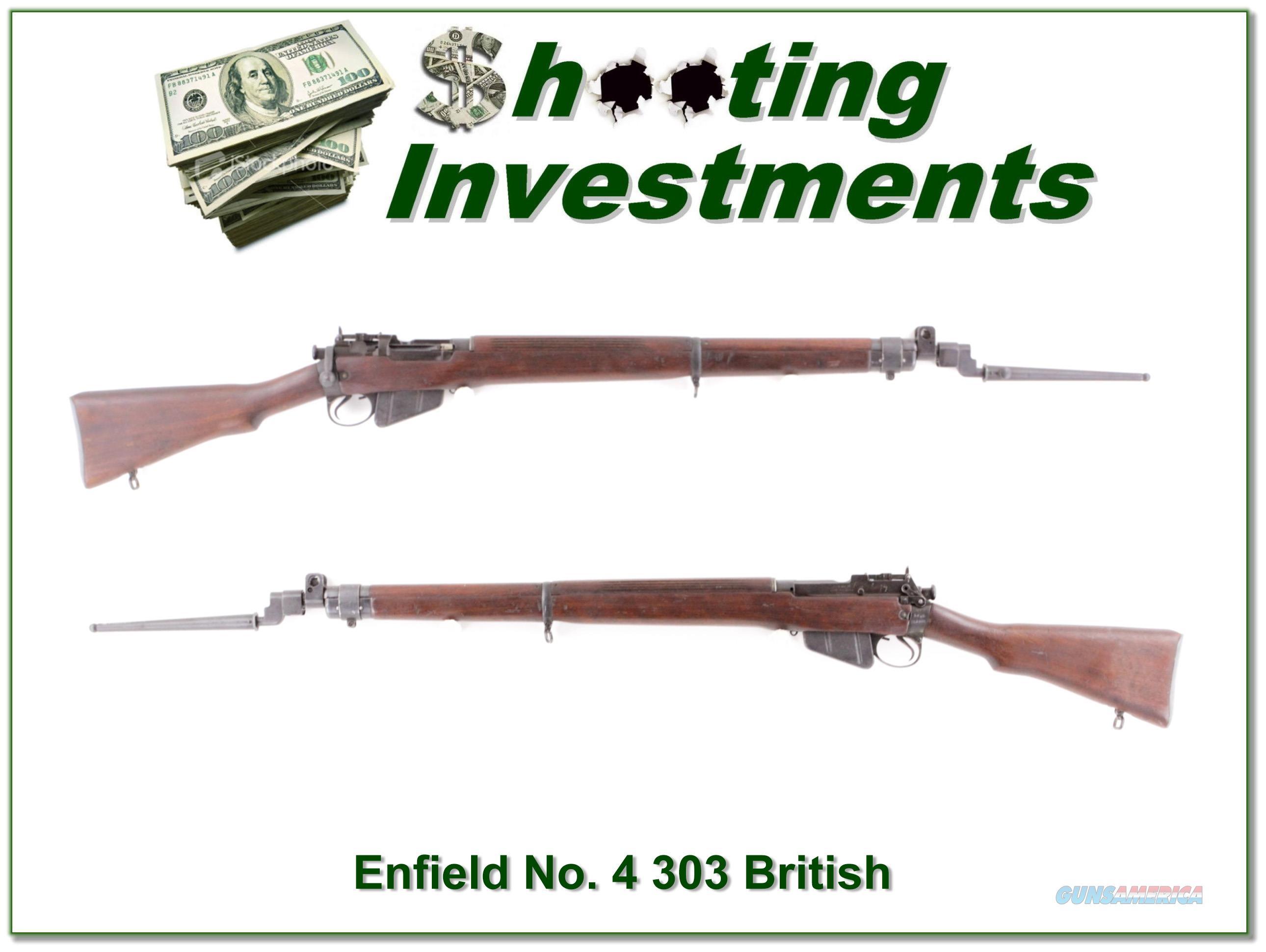 Enfield No 4 MK 1 1942 303 British with bayonet Exc Cond!