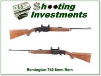 Remington 742 in hard to find 6mm Rem Exc Cond