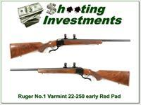 Ruger No. 1 1-V Varmint 22-250 pre-warning looks unfired!