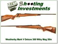 Weatherby Mark V Deluxe 26in 300 Wthy Mag Exc Cond!