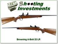 Browning A-bolt 22 LR Exc Cond 2 mags!