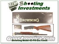 Browning Model 42 .410 410 Gauge Exc Cond in box!