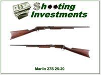 Marlin 27S 25-20 Pump with 24in Octagonal barrel