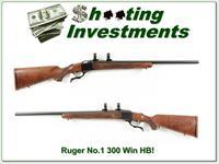 Ruger No. 1 300 Win Mag Heavy Barrel Pre-Warning Red Pad!