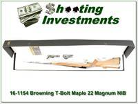 Browning T-bolt 22 Magnum Limited Run Maple Stock NIB