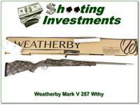 Weatherby Mark V Terramark RC 257 factory new