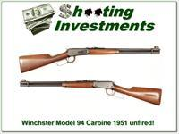 Winchester Model 94 Carbine 30-30 1951 pre-64 MINT!