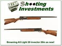 Browning A5 Light 20 26in Invector!