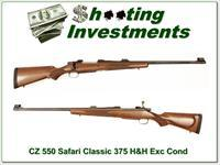 CZ 550 Classic Safari in 375 H&H looks as new