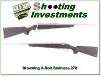 Browning A-Bolt Stainless Stlaker 270 Win as new