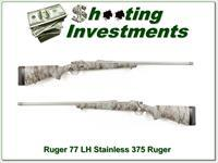 Ruger 77 Left Handed 375 Ruger unfired camo stainless