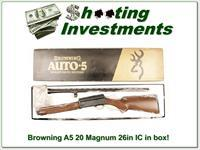 Browning A5 20 Magnum 26in IC VR in box!