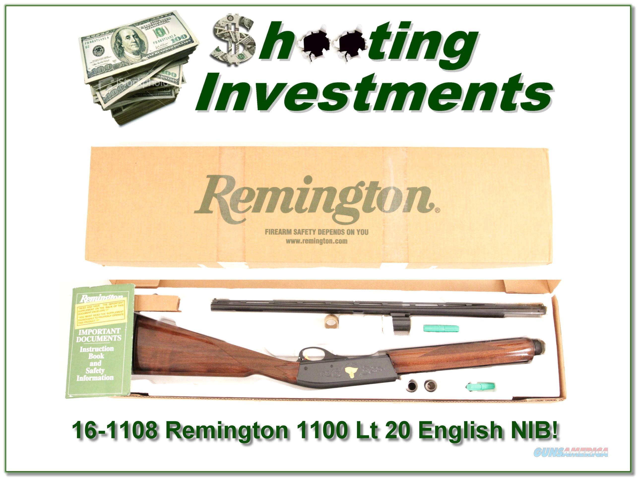 Remington 1100 LT 20 English Stock Sam Walton NIB!