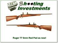 Ruger 77 Red Pad in 6mm Remington near new!