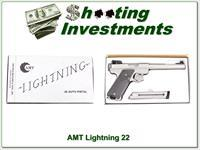 AMT Lightning Stainless 6.5in Target 22LR in box with papers!