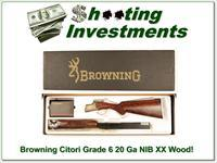 Browning Citori Grade 6 VI 20 Gauge NIB Unfired XX Wood!
