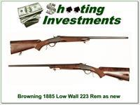 Browning 1885 Low Wall in 223 Remington Exc Cond!
