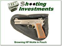 Browning High Power Polished Nickel as new in Pouch!