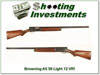 Browning A5 Light 12 59 Belgium VR Exc Cond!