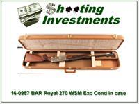 BAR Royal 270 WSM Custom Shop in case