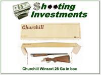 Churchill Winsor, I 28 Ga SxS in box!