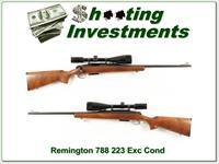 Remington 788 in 223 Rem with 6-18x50 scope!