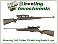 Browning BAR Stalker in 338 Win Mag with Burris scope