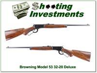 Browning Model 53 Deluxe 32-20 XX Wood Exc Cond!