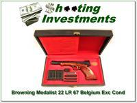 Browning Medalist 22 Auto 67 Belgium in case