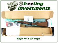 Ruger No.1 B in rare 204 Ruger 26in unfired in box