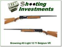 Browning A5 Light 12 70 Belgium Vent Rib!