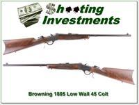 Browning 1885 Traditional Hunter Low Wall 45 COlt!