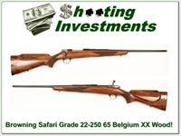 Browning Safari Grade 22-250 1965 Sako action XX Wood!