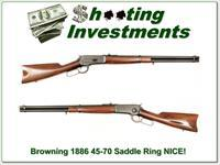 Browning 1886 45-70 Saddle Ring!