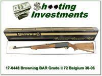Browning BAR Grade 1 72 Belgium 30-06 in box!
