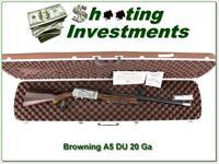 Browning A5 Ducks Unlimited 20 Ga New in Case!