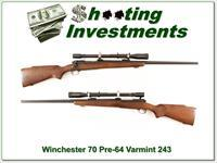 Winchester Pre-64 Varmint HB in 243 with period scope