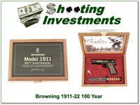 Browning 1911 -22 100th Anniversary w/ case New In Case!