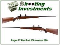 Ruger 77 Red Pad 338 Custom 26in Exc Cond