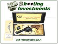 Colt Frontier Scout 4 3/5in 22LR & 22 magnum ANIC