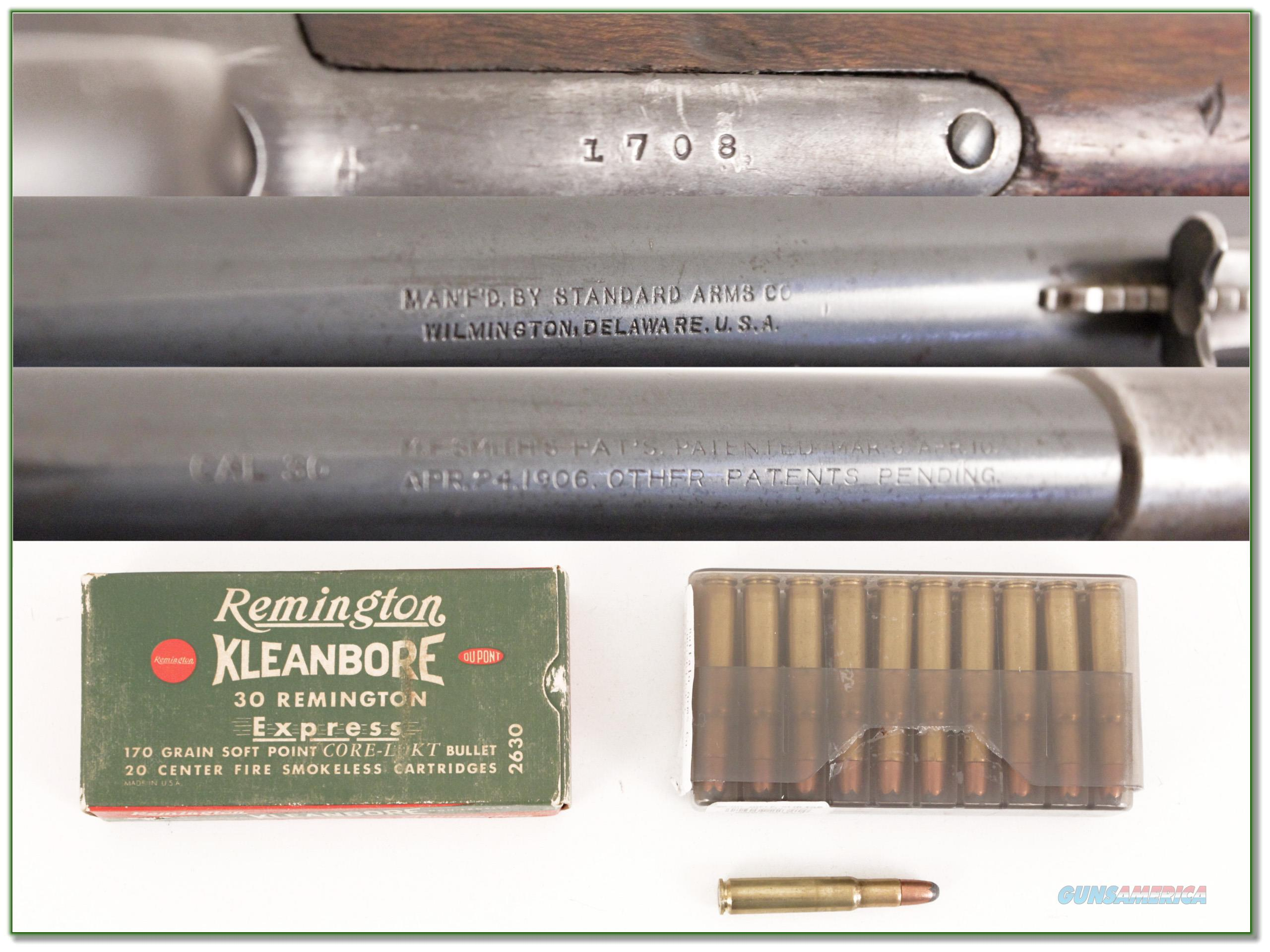 9780563.jpg & Standard Arms 1913M 30 Remington with 2 boxes a... for sale