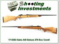 Sako AIII Deluxe 270 Winchester beautiful wood!