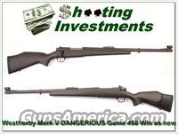 Weatherby Mark V Dangerous Game 458 Win as new!
