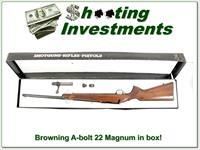Browning A-bolt 22 Magnum in box!