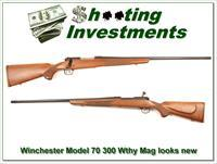 Winchester Model 70 300 Weatherby Exc Cond!