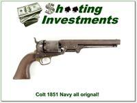 Colt 1851 Navy made in 1853 all original matching numbers!