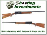 Browning A5 12 Gauge 67 Belgium 28in Mod