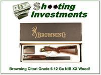 Browning Citori Grade 6 VI 12 Gauge NIB Unfired XX Wood!