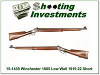 Winchester 1885 Low Wall 22 Short Musket 1919
