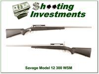 Savage Model 12 Stainless Fluted HB in 300 WSM